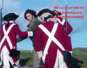 Aidan Turner getting arrested.
